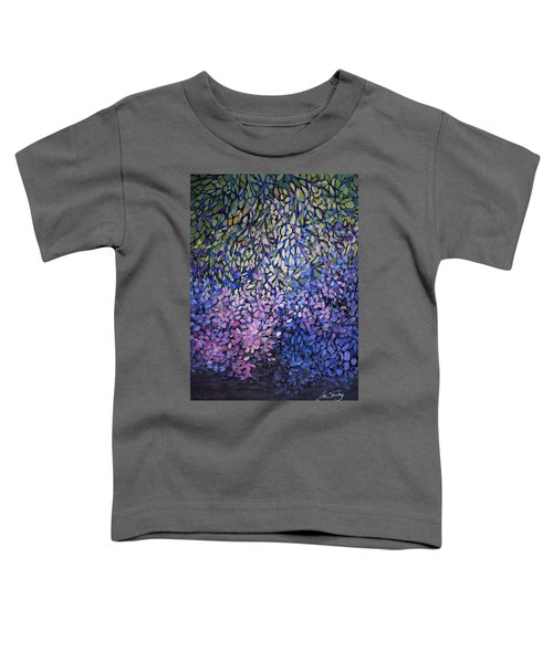 Toddler T-Shirt featuring the painting Natures Stain Glass Symphony by Joanne Smoley