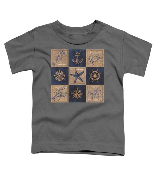 Nautical Burlap Toddler T-Shirt