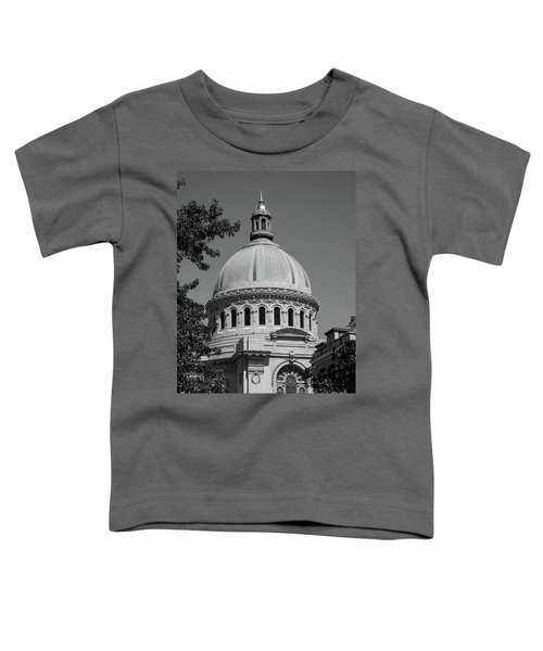 Naval Academy Chapel - Black And White Toddler T-Shirt