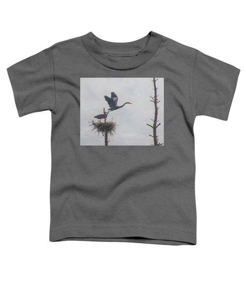 Nesting Great Blue Heron Toddler T-Shirt