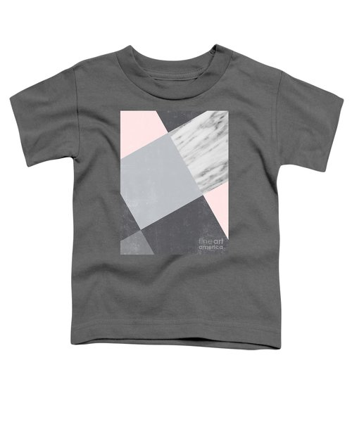 Neutral Collage With Marble Toddler T-Shirt