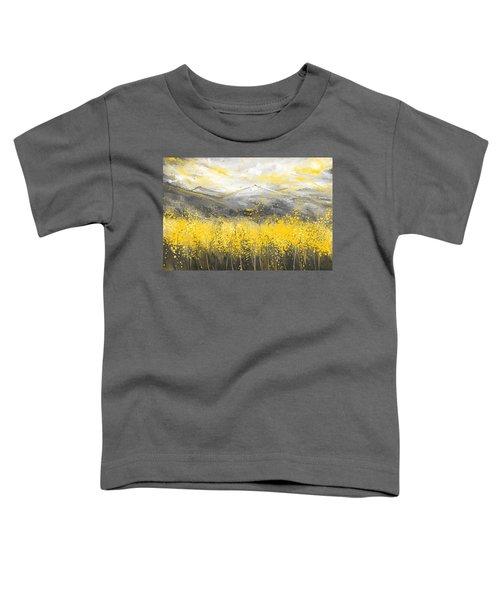 Neutral Sun - Yellow And Gray Art Toddler T-Shirt