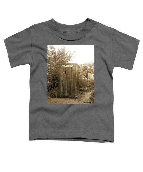 Never Squat With Your Spurs On, Sepia Toddler T-Shirt