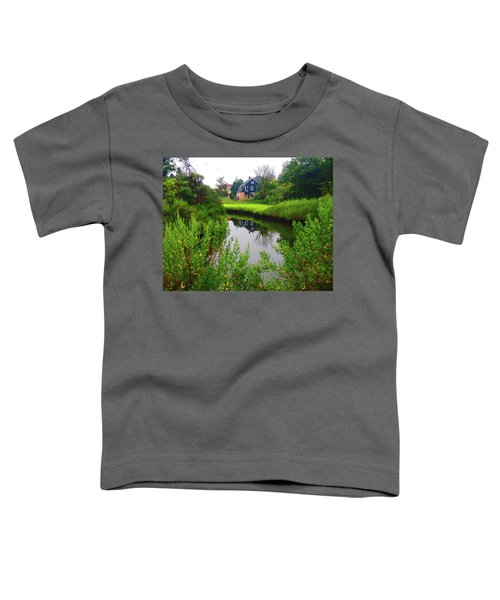 New England House And Stream Toddler T-Shirt