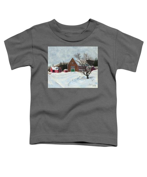 New Hampshire Farm In Winter Toddler T-Shirt