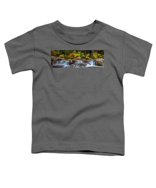 New Hampshire White Mountains Swift River Waterfall In Autumn With Fall Foliage Toddler T-Shirt