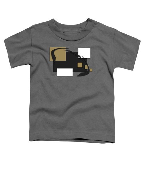 New Orleans Saints Abstract Shirt Toddler T-Shirt by Joe Hamilton