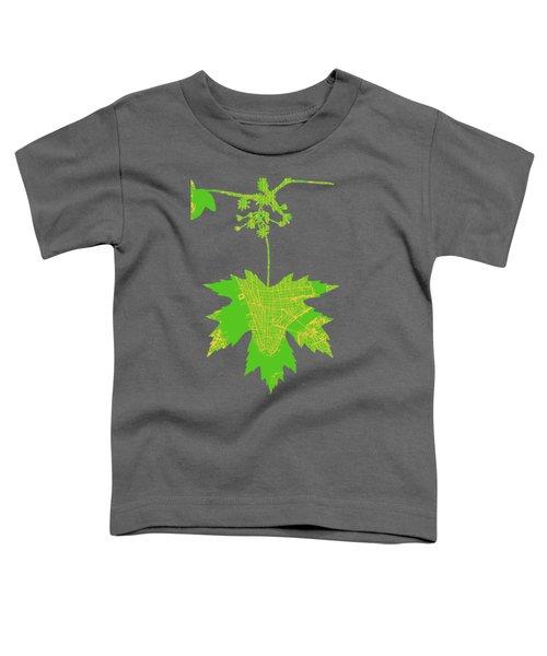 New Yor City Vintage Map Toddler T-Shirt
