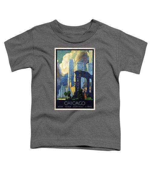 New York Central Lines, Chicago - Retro Travel Poster - Vintage Poster Toddler T-Shirt