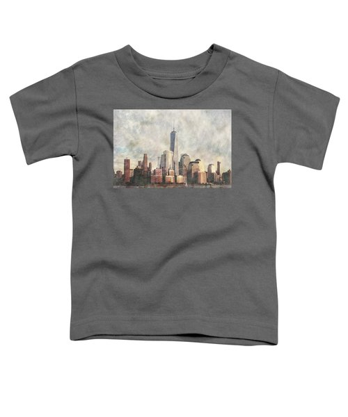 New York City Skyline Including The World Trade Centre Toddler T-Shirt