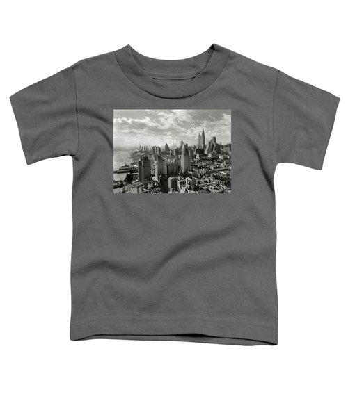 New Your City Skyline Toddler T-Shirt by Jon Neidert