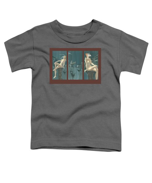 Night In Venice. Triptych Toddler T-Shirt