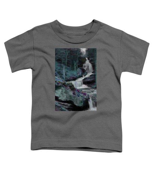 Night Rainbow Waterfall Toddler T-Shirt