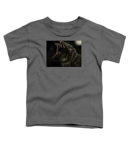 Night Silent Wolf Toddler T-Shirt