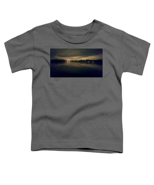 Night Sky Over Lake With Clouds Toddler T-Shirt