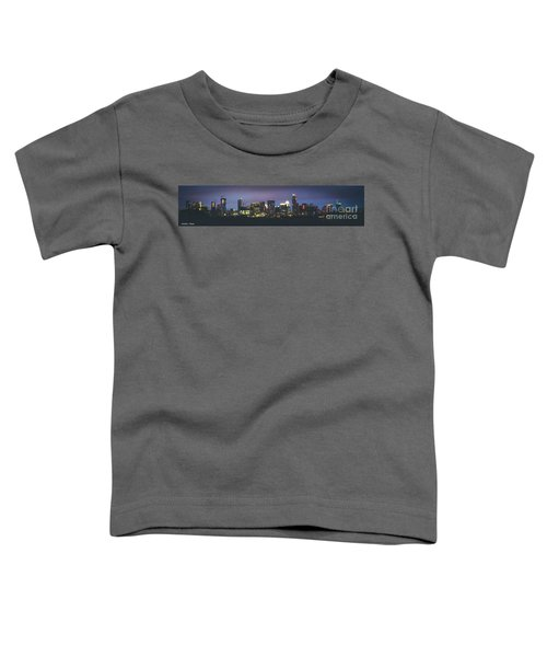 Night View Of Downtown Skyline In Winter Toddler T-Shirt