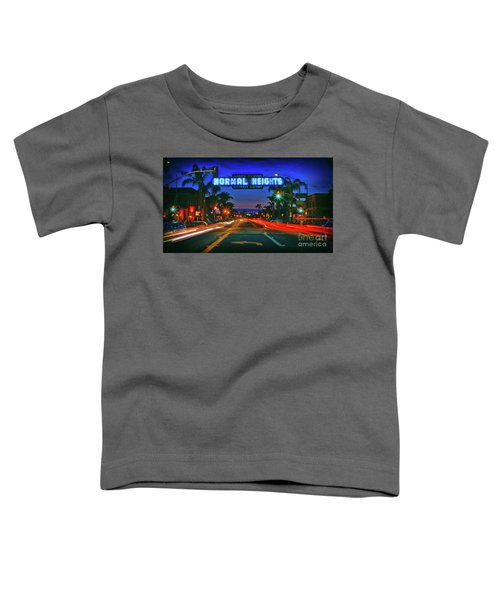 Nighttime Neon In Normal Heights, San Diego, California Toddler T-Shirt