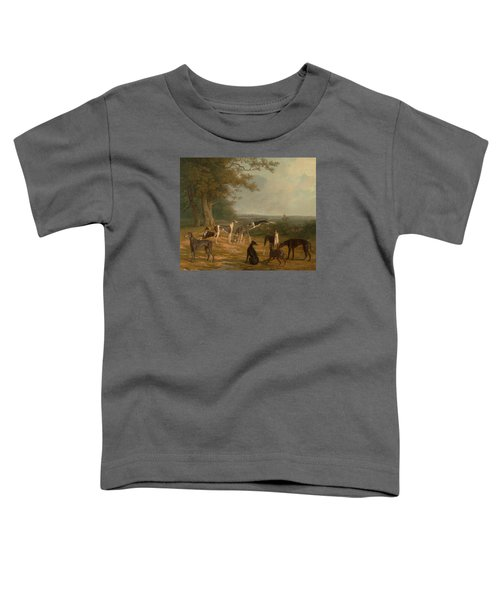 Nine Greyhounds In A Landscape Toddler T-Shirt