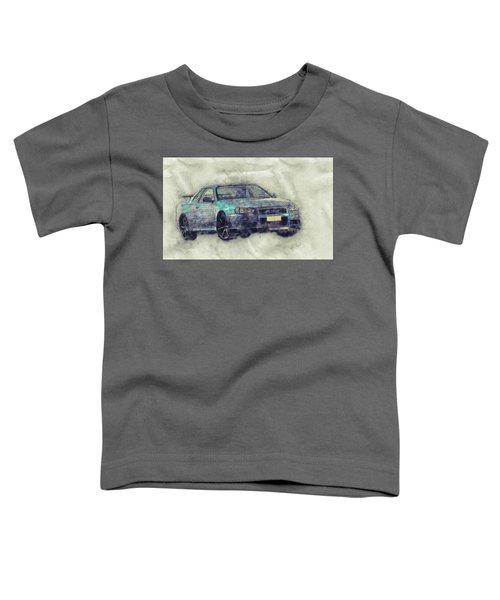 Nissan Skyline Gt-r 1 - Spors Car - Automotive Art - Car Posters Toddler T-Shirt