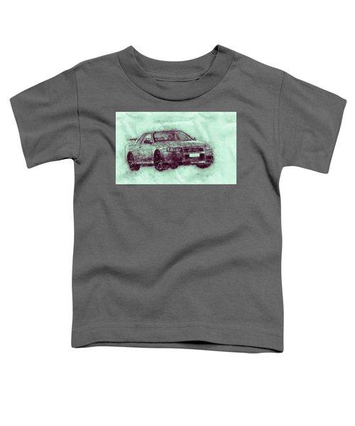 Nissan Skyline Gt-r 3 - Spors Car - Automotive Art - Car Posters Toddler T-Shirt