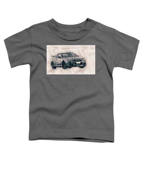 Nissan Skyline Gt-r - Spors Car - Automotive Art - Car Posters Toddler T-Shirt