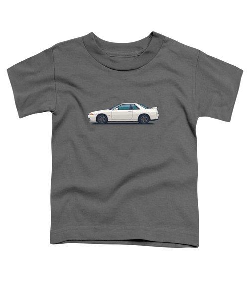 Nissan Skyline R32 Gt-r - Plain White Toddler T-Shirt