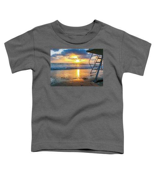 Toddler T-Shirt featuring the photograph No Lifeguard On Duty by Alison Frank