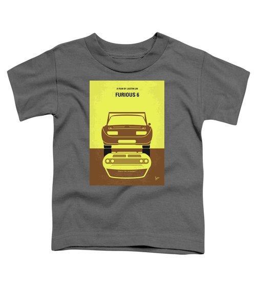 No207-6 My Furious 6 Minimal Movie Poster Toddler T-Shirt
