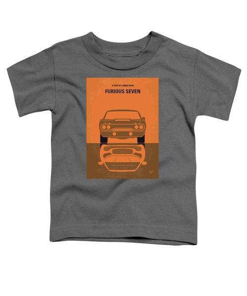 No207-7 My Furious 7 Minimal Movie Poster Toddler T-Shirt