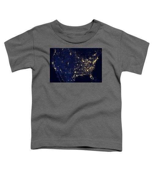 North America At Night Toddler T-Shirt