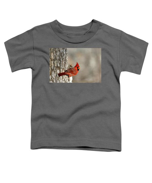 Northern Cardinal On Tree Toddler T-Shirt