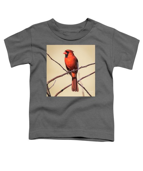 Northern Cardinal Profile Toddler T-Shirt