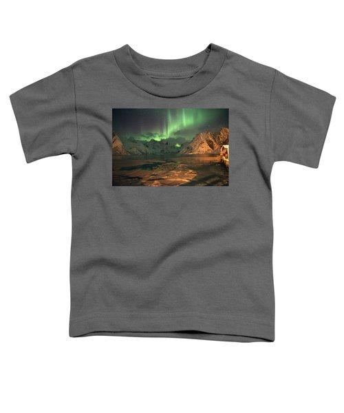 Northern Light In Lofoten, Nordland 1 Toddler T-Shirt by Dubi Roman