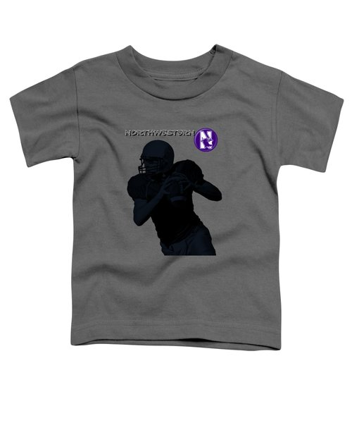 Northwestern Football Toddler T-Shirt by David Dehner