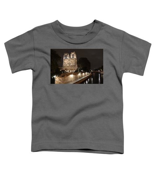 Notre Dame Cathedral From Petit Pont Toddler T-Shirt