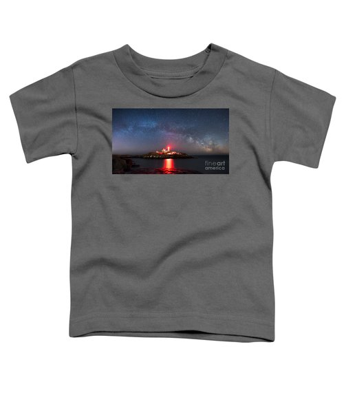 Nubble Lighthouse Milky Way Pano Toddler T-Shirt
