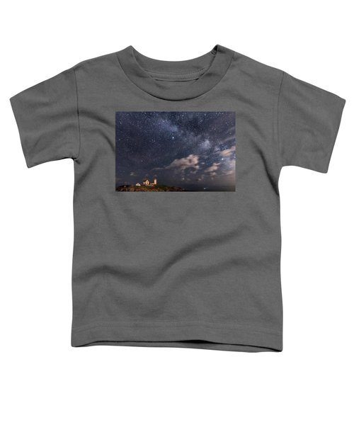 Nubble Lighthouse Under The Milky Way Toddler T-Shirt