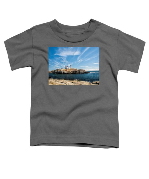 Nubble Lighthouse With Dramatic Clouds Toddler T-Shirt