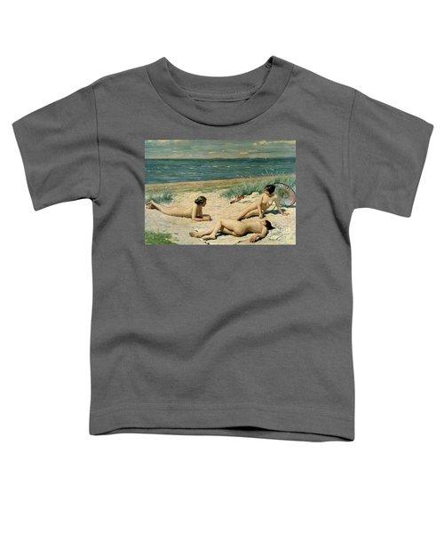 Nude Bathers On The Beach Toddler T-Shirt