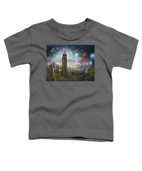 Nyc. Empire State Building Toddler T-Shirt by Ylli Haruni