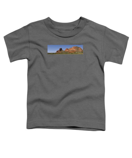 Oak Creek Panorama In Red Toddler T-Shirt