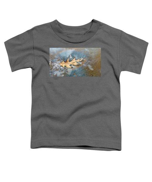 Oak Leaf Frozen On Ice Toddler T-Shirt