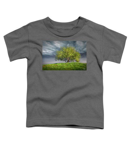 Oak Tree With Tire Swing Toddler T-Shirt