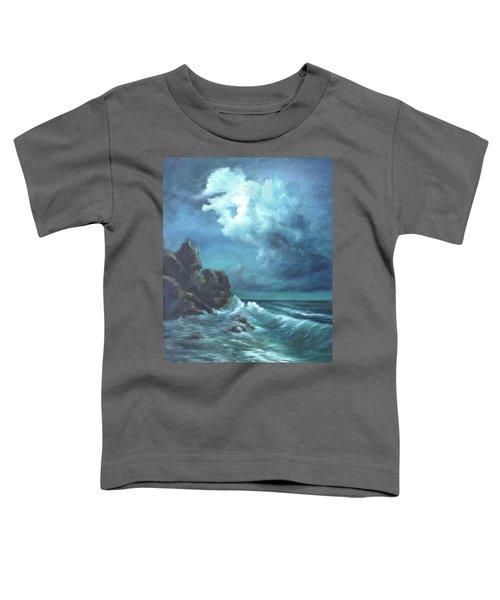 Seascape And Moonlight An Ocean Scene Toddler T-Shirt