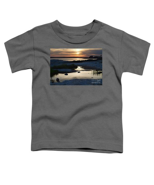 Ocean Point Sunset In East Boothbay Maine  -23091-23093 Toddler T-Shirt