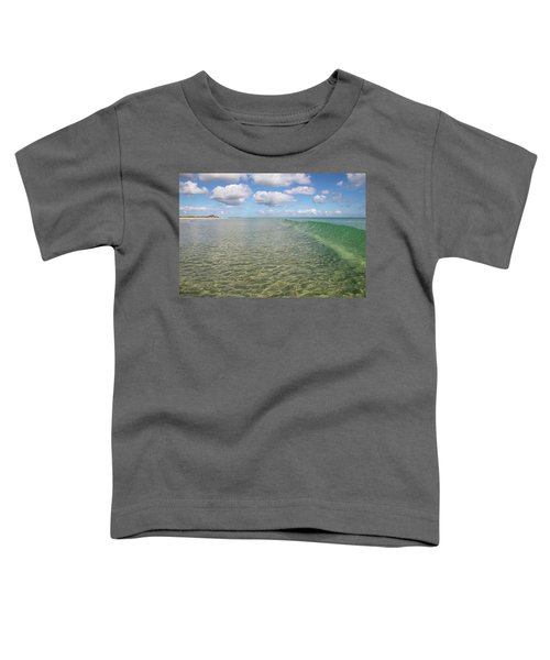 Ocean Waves And Clouds Rollin' By Toddler T-Shirt