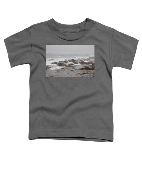 Ocean Waves Over Rocks Toddler T-Shirt