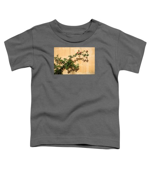 Of Light And Shadow - Bougainvillea On A Timeworn Plaster Wall Toddler T-Shirt
