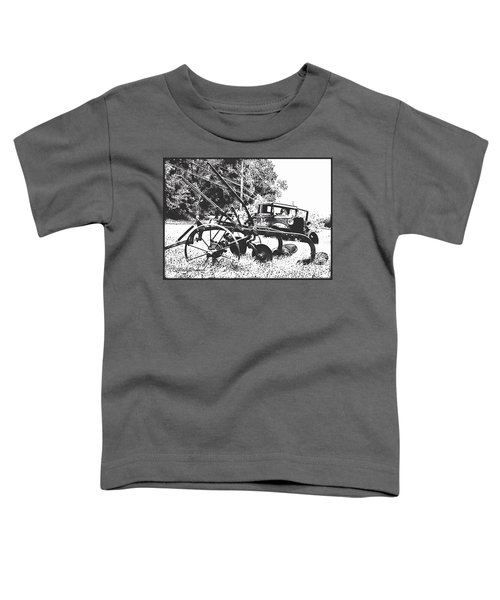 Old And Rusty In Black White Toddler T-Shirt