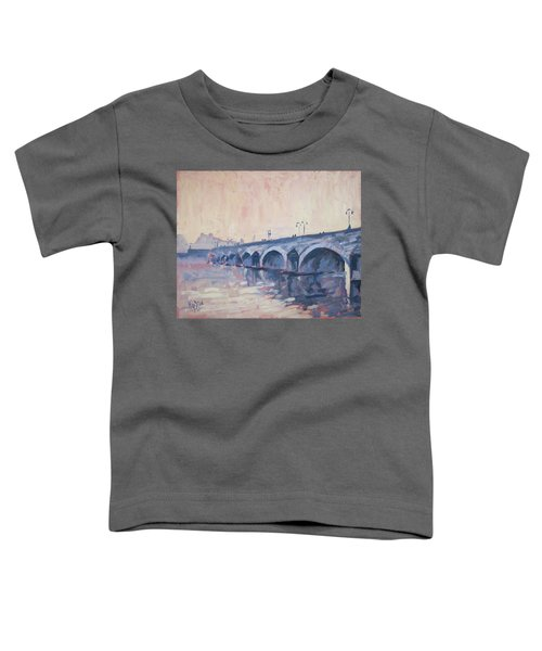 Old Bridge Of Maastricht In Warm Diffuse Autumn Light Toddler T-Shirt by Nop Briex
